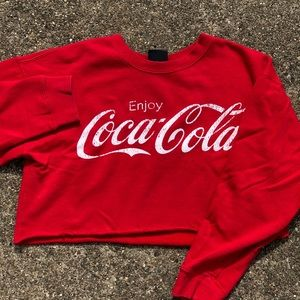 FOREVER 21 COCA COLA cropped crew neck
